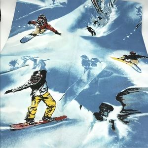 Snowboarder Shower Curtain Fabric NWOT